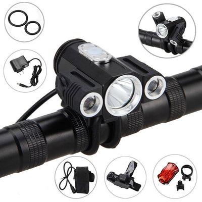 T6 LED Adjustable Angle Bicycle Headlight + Free Gifts - TrendNRoll