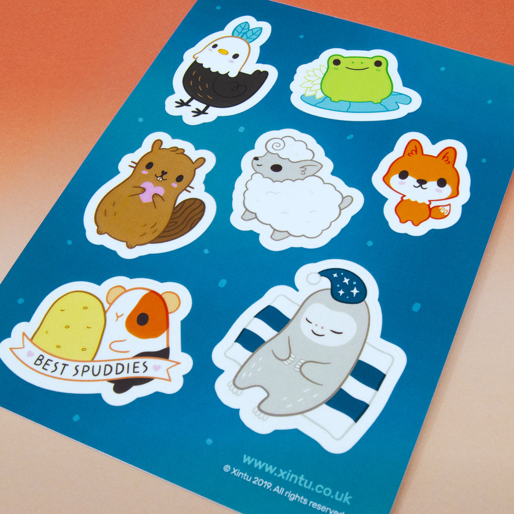 Adorable Animals Sticker Sheet