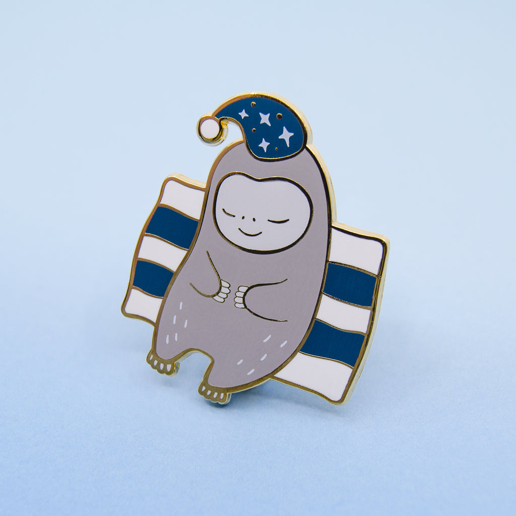 Bedtime Sloth Enamel Pin