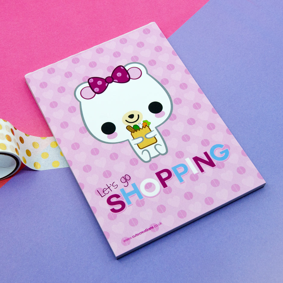 Let's Go Shopping Memo Pad