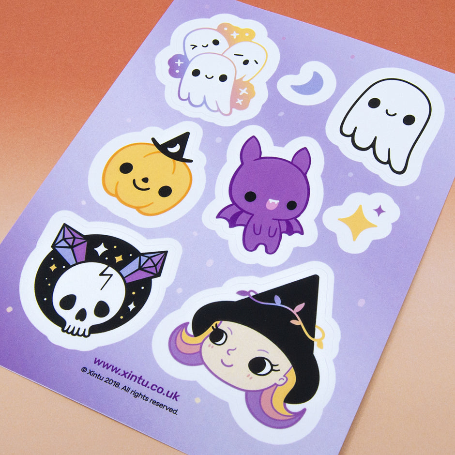 Creepy Cute Sticker Sheet