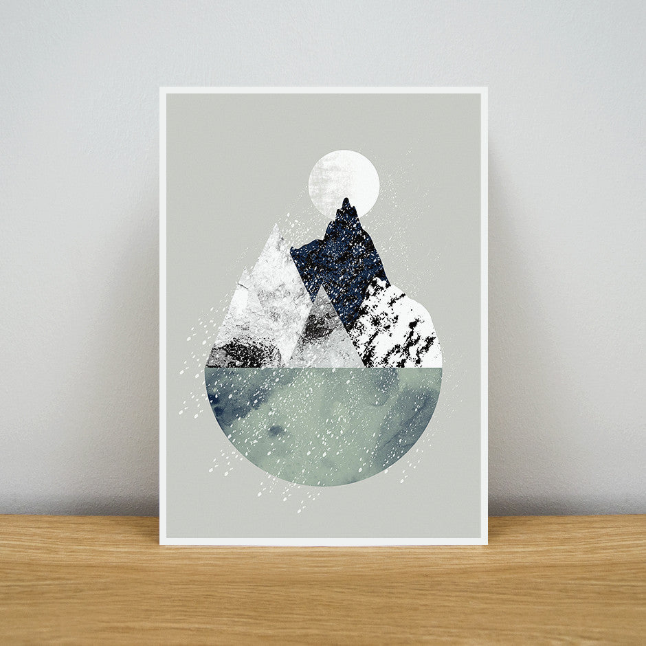 Snow Over Summit Print