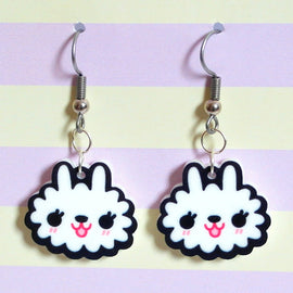 Fluffy Bunny Earrings