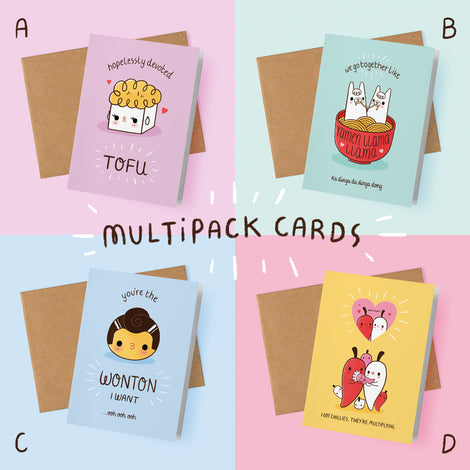 Multipack of any 5 Greetings Cards