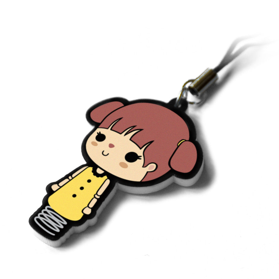 Wooden Doll Phone Charm