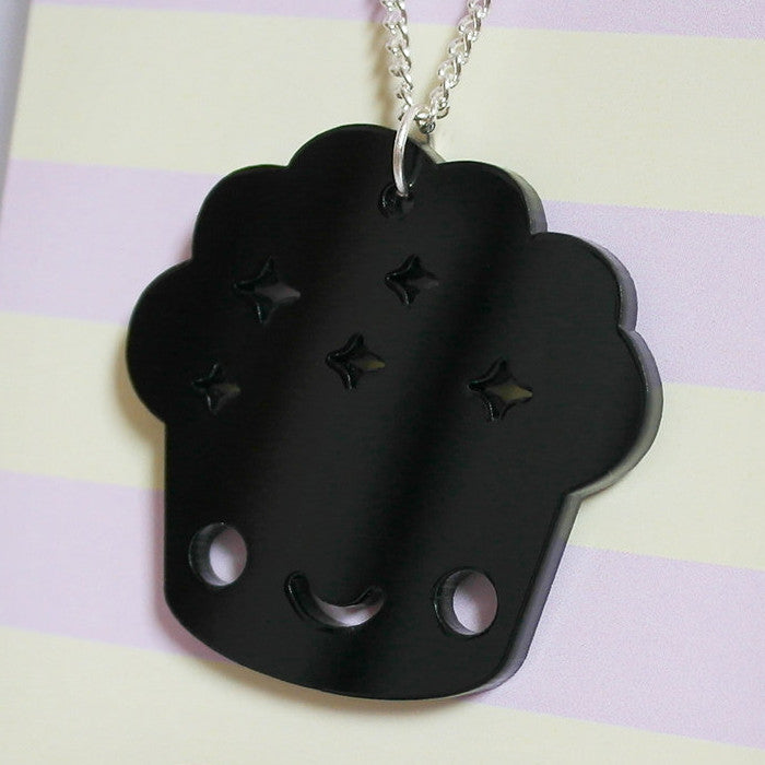 Black Muffin Necklace