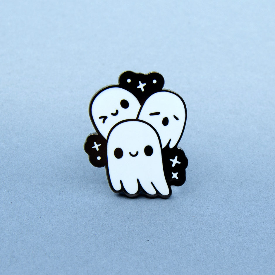 Ghost Trio Enamel Pin