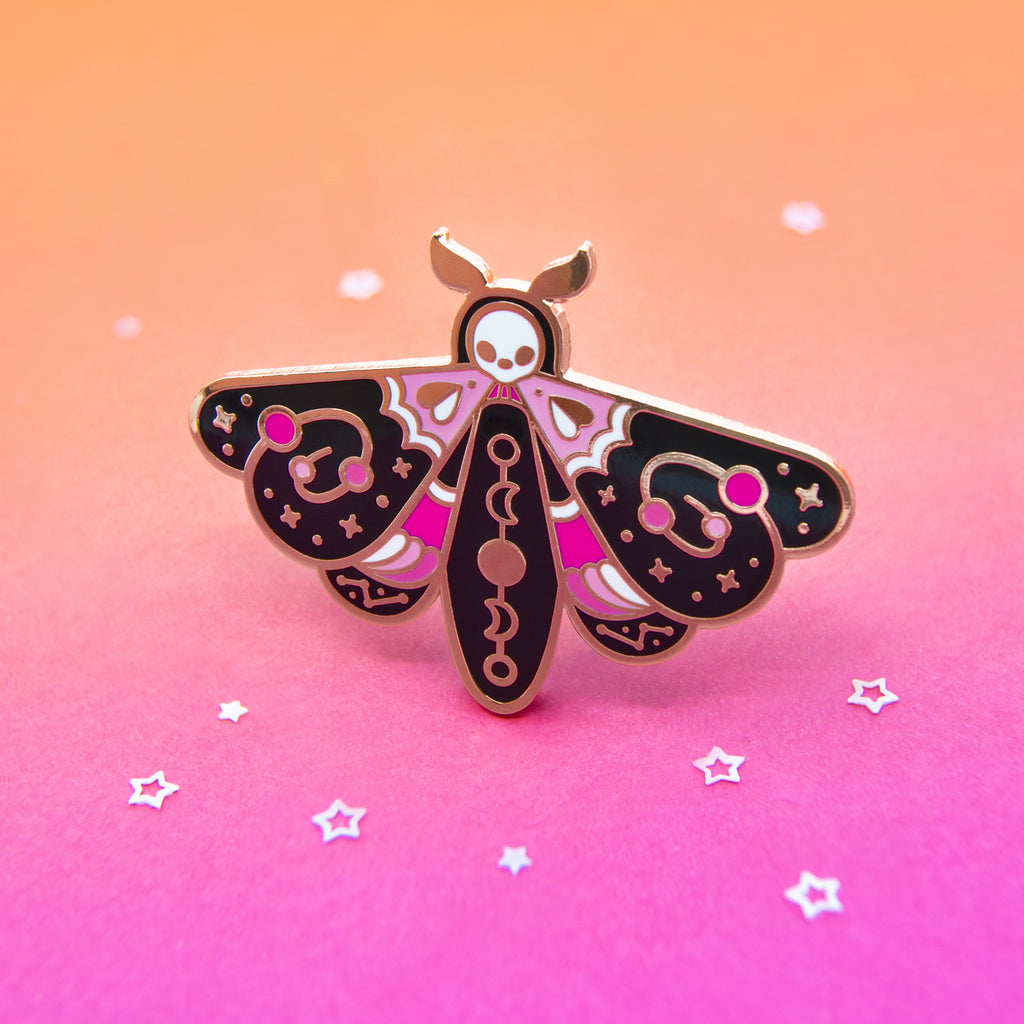 Interstellar Moth Enamel Pin