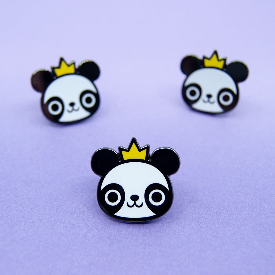 King Panda Enamel Pin