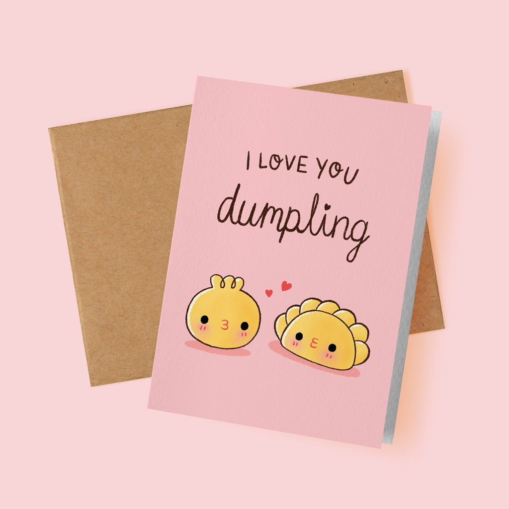 I Love You Dumpling Card