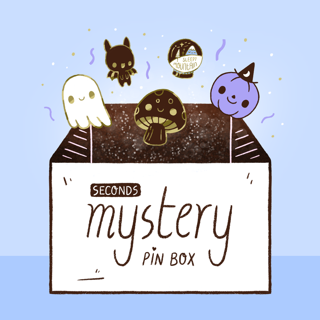 Seconds Mystery Pin Box – 5 Random Enamel Pins