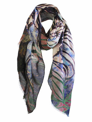 The Swirl Silkwool Oversized Scarf - Rose