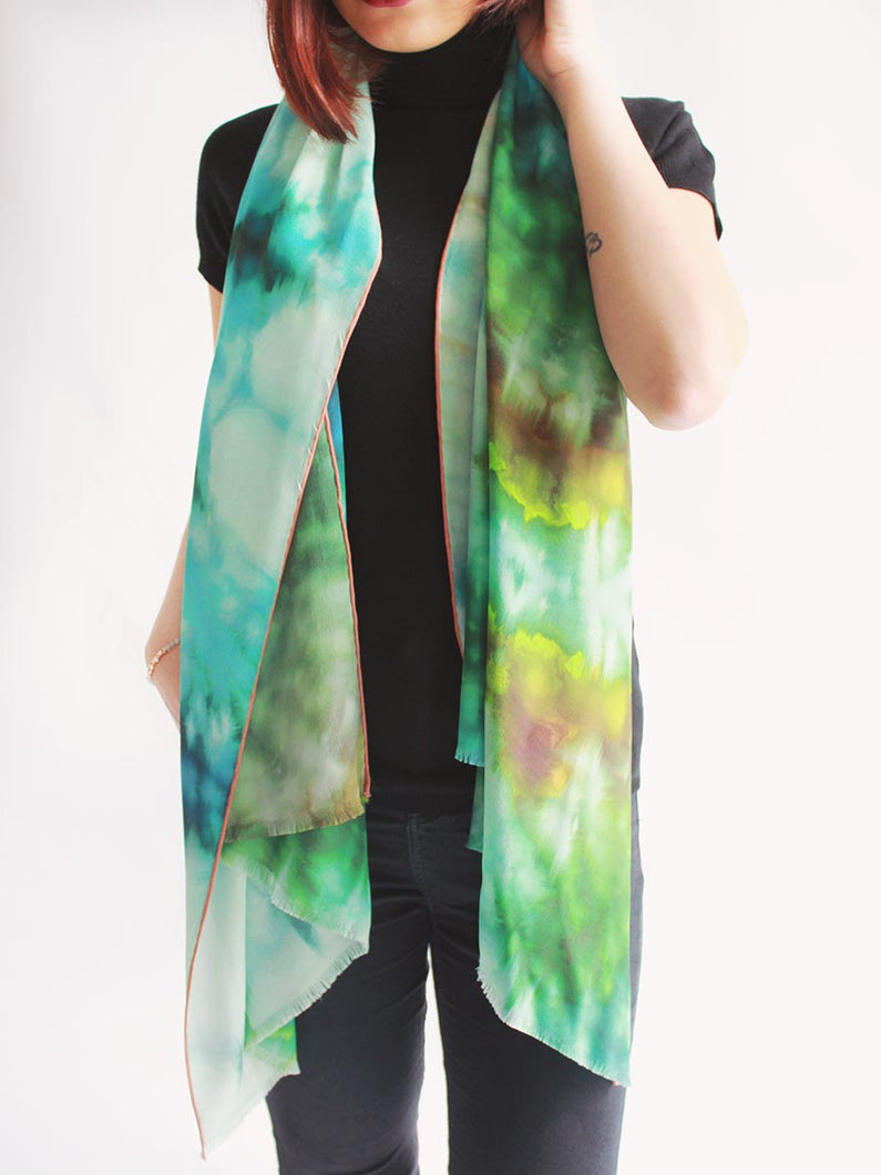 The Bridge Long Silk Scarf