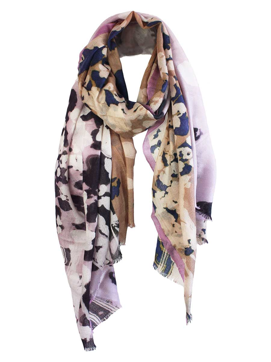 The Rain Feather Light Cashmere Scarf - Frozen Raspberry