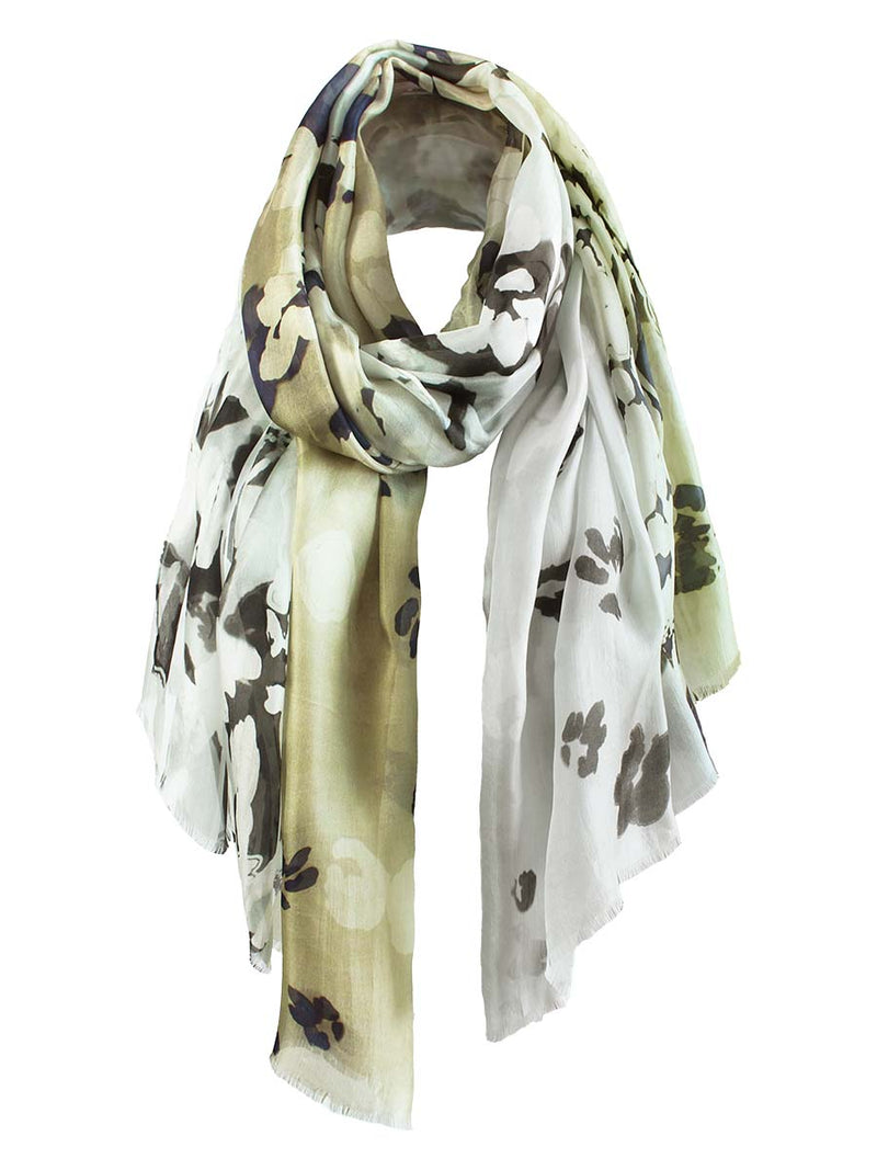 The Rain Superlight Silk Summer Scarf  - Ash Grey Sand