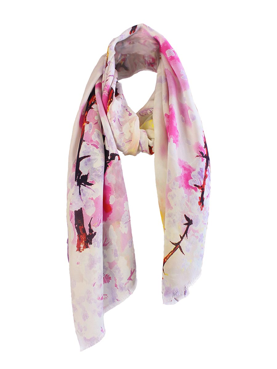 The Whisper Long Silk scarf  - Lilac
