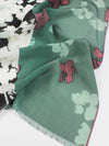 The Rain Long Silk Scarf  - Ash Gray Teal