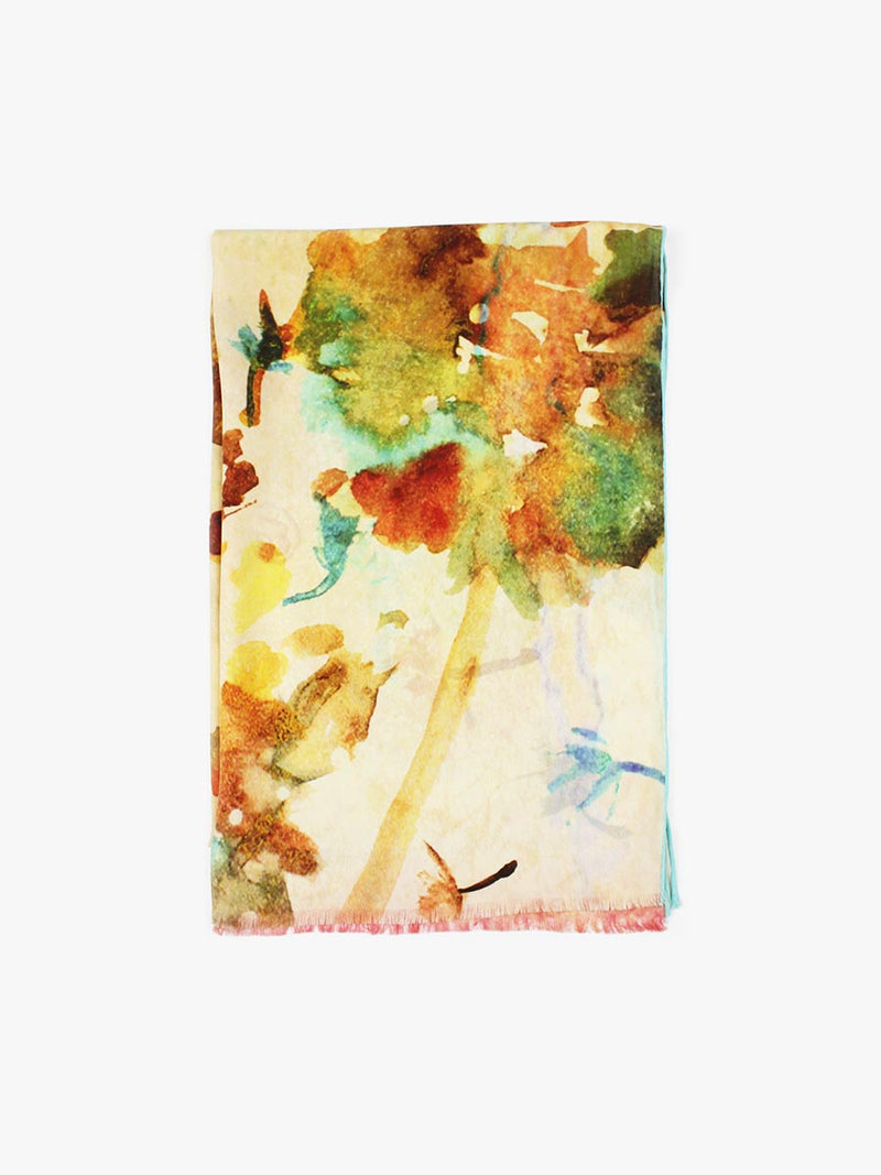 The Wish Long Silk Scarf - Dandelion