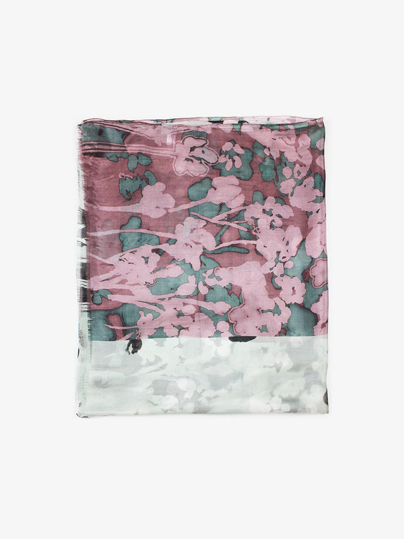The Rain Superlight Silk Summer Scarf  - Ash Grey Plum