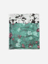 The Rain Superlight Silk Summer Scarf  - Ash Grey Teal