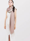 The Cozylab Oversized Cashmere Blended Scarf - Neutral Undyed