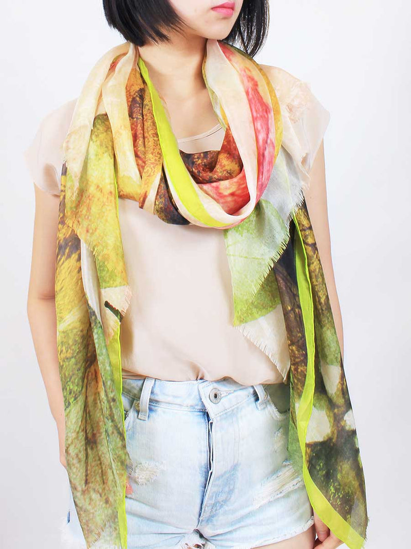 The Wish Superlight Silk Summer Scarf - Clover