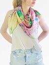 The Wish Square Silk Scarf - Hydrangea