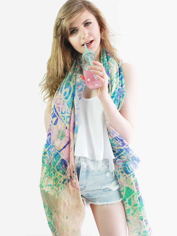 The Dancer Superlight Silk Summer Scarf - Lantern