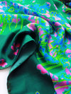 The Rain Square Silk Scarf  - Green