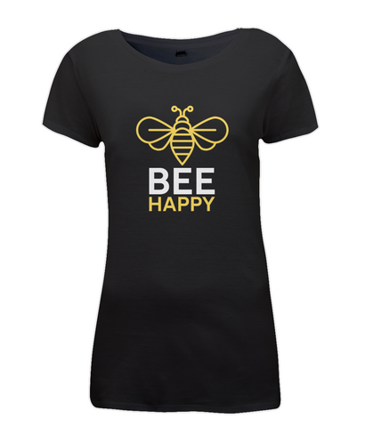Women's Regular Fitted T-shirt BEE-HAPPY