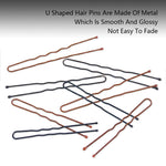 Metene Hair Pins 220Pcs 5cm 6cm U Shaped Hair Pins , Professional U Shape Hair Pins for Women Girls and Hairdressing Salon Doubtless Bay with Clear Storage Box