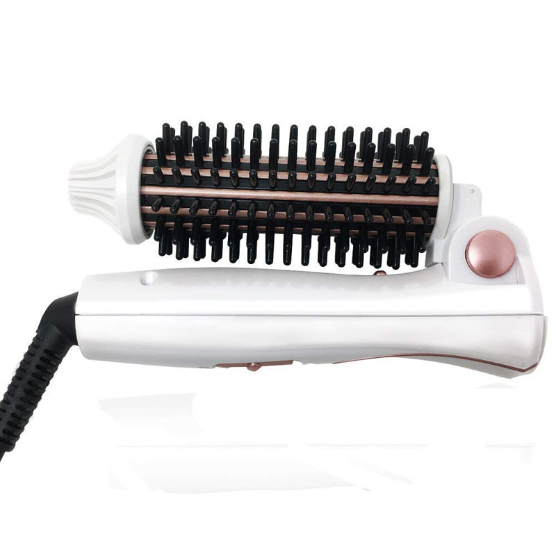 Metene Hair Curlers, Electrically-heated, Curling Iron Brush Ceramic Tourmaline Ionic Travel Dual Voltage Hot Hair 1 inch Anti-scald Heated Curling Wands Round Hair Styler Curler Brush Electric