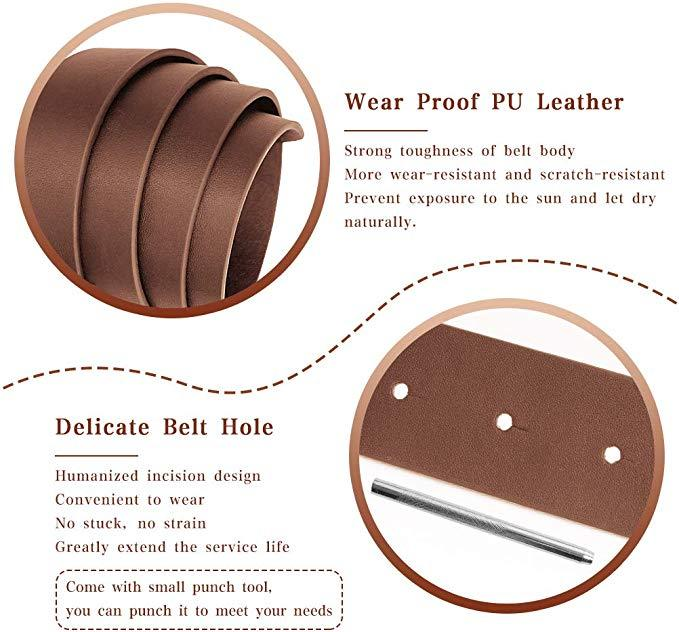 Metene Women Leather Waist Belt, Leather Cute Ladies Belt for Jeans Dress Pants with Fashion O-Ring Buckle