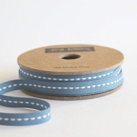 Narrow Squadron Blue Stitched Ribbon 7mm (100M)