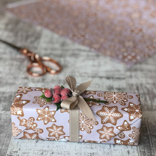 Pink Festive Gingerbread Gift Wrap