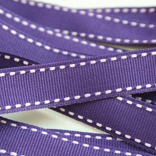 Purple Stitched Ribbon 15mm (100M)