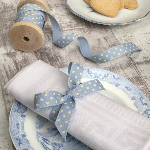 Pale Blue dotty ribbon