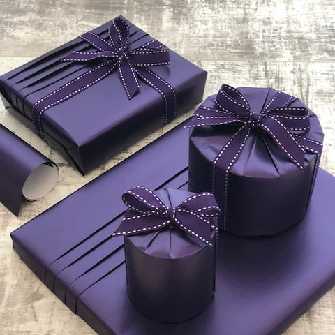 Purple Stitched Ribbon