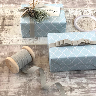 Grey Stitched Ribbon