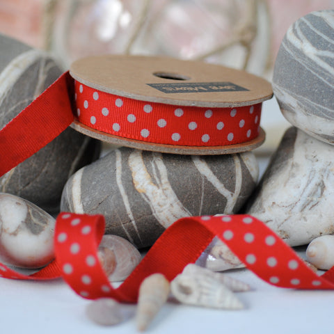 Red and Grey Dotty Ribbon