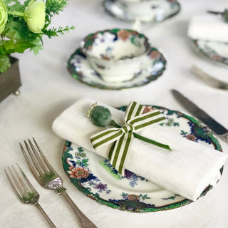 Sage and Cream Stripe Ribbon