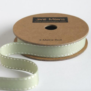 Thyme Green Stitched Ribbon