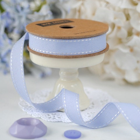 Lavender Stitched Ribbon 15mm (3M)