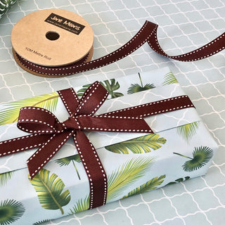 Chocolate Brown Stitched Ribbon