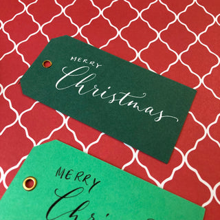 Dark Green Eyelet Tags