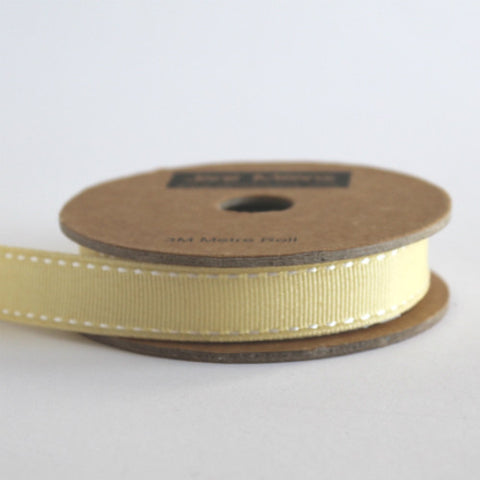 Yellow Stitched Ribbon 15mm (100M)