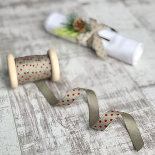 Grey and Red Dotty Ribbon