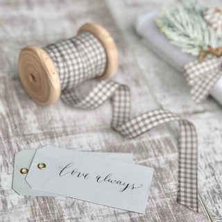 Light Grey Eyelet Tags