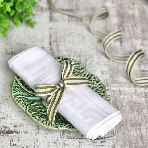 sage green stripe ribbon