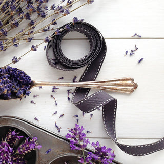 Slate Grey Stitched Ribbon